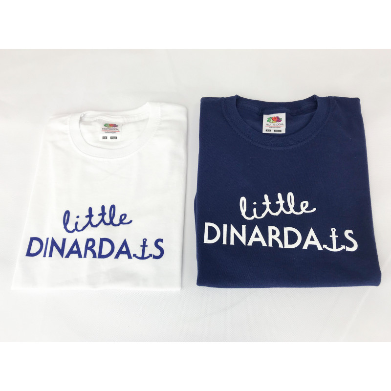 "TEE-SHIRT BLANC ""LITTLE DINARDAISE""-FILLETTE"