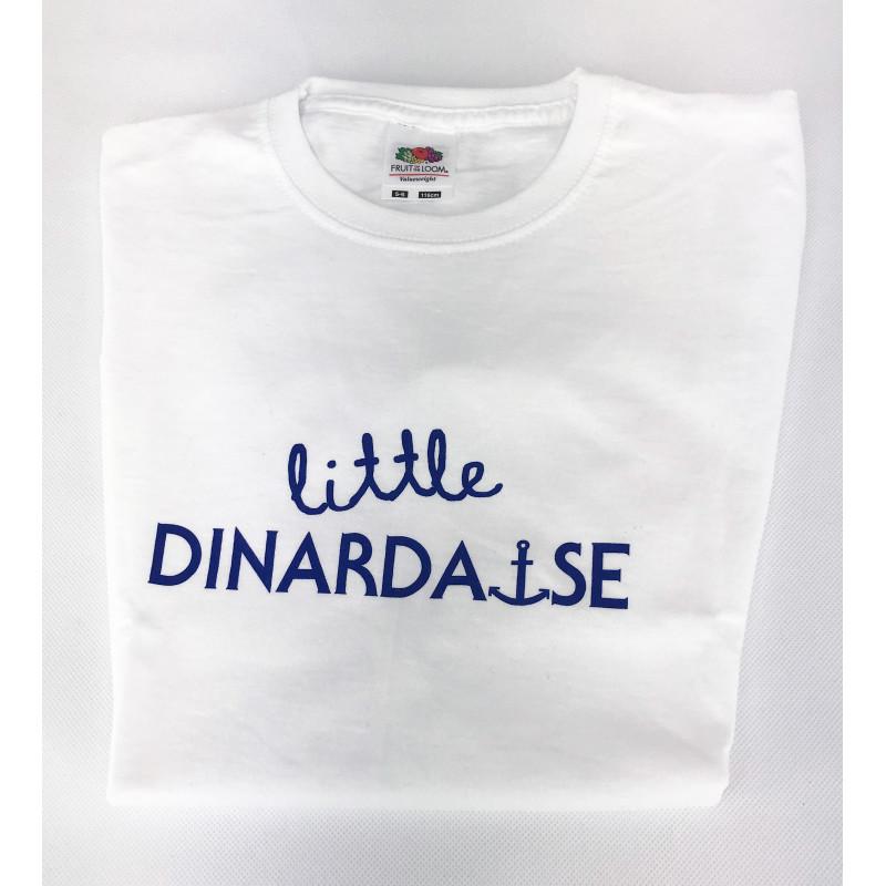 """TEE-SHIRT BLANC """"LITTLE DINARDAIS""""-GARCON"""